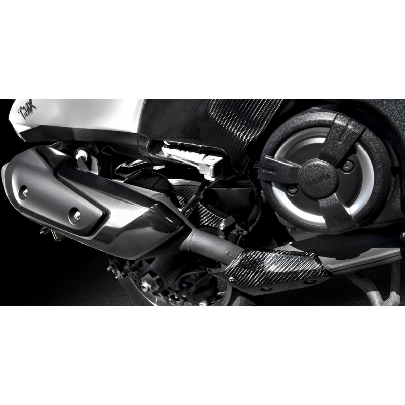 MOS Y-BC3-HY011-C01 Carbon Fiber Exhaust Pipe Line Protector Cover For Yamaha T-MAX 530