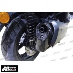MOS Y-XM3-HY012-C01 Carbon Fiber Exhaust Pipe Muffler Cap Yamaha X-MAX