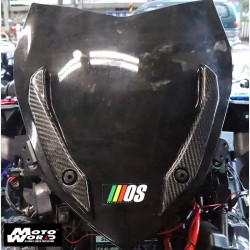 MOS Y-XM3-HY027-C01 Carbon Fiber Windshield Side Cover for Yamaha X-MAX