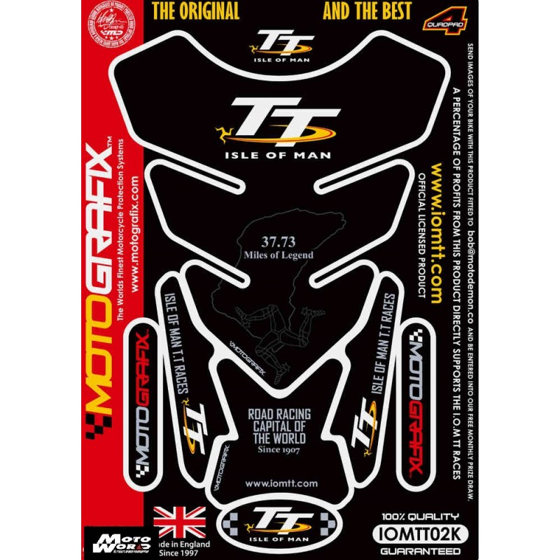 Motografix CAD IOMTT02K Official Isle of Man TT Tankpad -Black