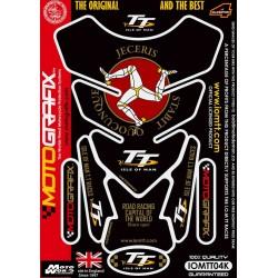 Motografix CAD IOMTT04K Official Isle of Man TT Tankpad -Black