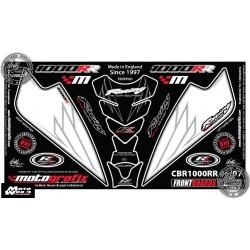Motografix CAD NH007U Honda CBR1000RR RR6 / RR7 2006 2007 Motorcycle Front Fairing Paint Protector