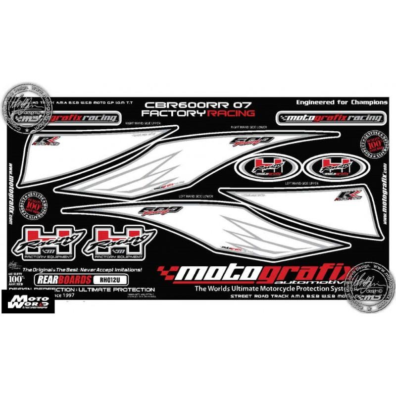 Motografix CAD RH012U Honda CBR600 RR RR-7 / RR-8 / RR-9 2007 2008 Motorcycle Rear Seat Unit Paint Protector
