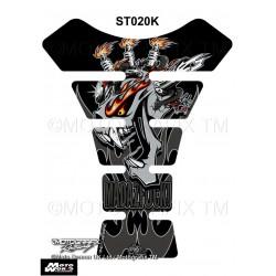 Motografix CAD ST020K Mad Az F**K Gashead Black / Silver Universal Motorcycle Tank Pad Protector 3D Gel