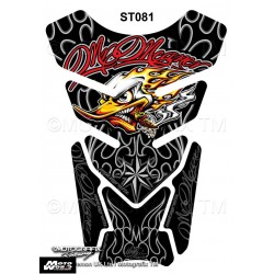 Motografix CAD ST081 Mr Meaner Clay Smith Cams Style Replica Black Motorcycle Tank Pad Protector 3D Gel