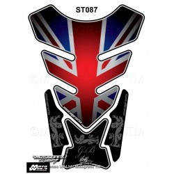 Motografix CAD ST087 Great Britain - Union Jack Style Motorcycle Tank Pad Protector 3D Gel