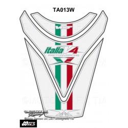 Motografix CAD TA013W Aprilia RSV4 R Tuono V4 2009 10 11 White Motorcycle Tank Pad Protector 3D Gel