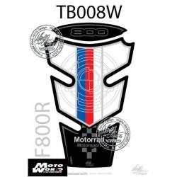 Motografix CAD TB008W BMW F800R Motorsport 09 10 11 12 13 14 15 Motorcycle Tank Pad Protector 3D Gel