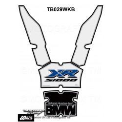 Motografix CAD TB029WKB BMW S1000XR 2015 2016 2017 White Motorcycle Tank Pad Protector 3D Gel
