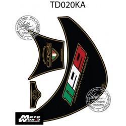 Motografix CAD TD020KA Ducati 1199 Panigale 2012 13 14 15 Black / Gold Motorcycle Tank Pad Protector 3D Gel