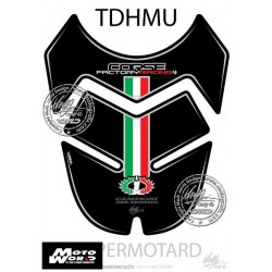 Motografix CAD TDHMU Ducati Hypermotard 2007 Black Factory Style Motorcycle Tank Pad Protector 3D Gel