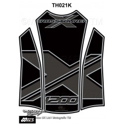 Motografix CAD TH021K Honda VFR1200X Crosstourer 2012 13 14 Black Motorcycle Tank Pad Protector 3D Gel