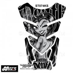 Motografix CAD ST074KS CAD ST074KS 3D Gel Tank Quadrapad For Horny Devil - Silver / Black