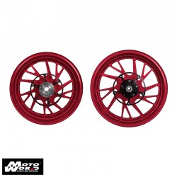 MOS YB74FG10011 Matt Red Forged Aluminum Alloy Wheels Set for Yamaha X-Max 10