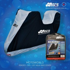Motoworld MW20 Aqua Motorcycle Cover with Top Box