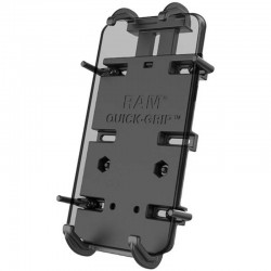 RAM Mounts RAMHOLPD4238AU Large Universal Quick Grip Phone Holder with Diamond Ball Base