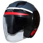 TRAX T735 Motorcycle Open Face Helmet