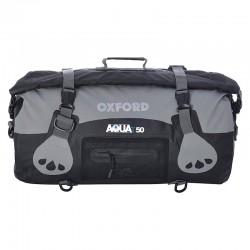 Oxford OL991 Aqua T-50 Roll Bag-Black/Grey