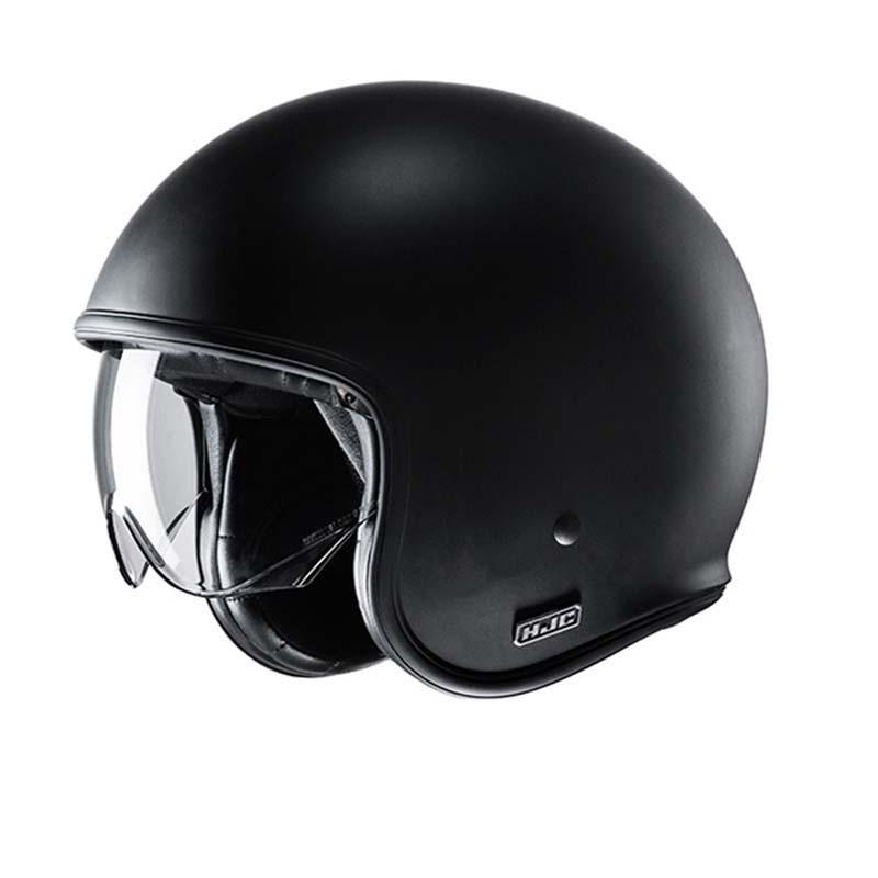 HJC V30 Semi Flat Black Classic Motorcycle Helmet