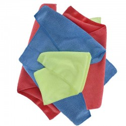 Oxford OX253 Microfibre Towels Pack of 6 Blue/Yellow/Red