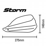 Barkbusters STM00300-WH White Storm Plastic Guard