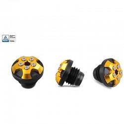 DMV DIEOC5M301.5-G Magnetic Engine Oil Cap for Ninja ZX-14R10-18, GTR 1400 07-18, H2R 15-18 Gold