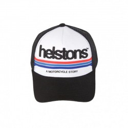 Helstons Mora Cap-Black/White/Black