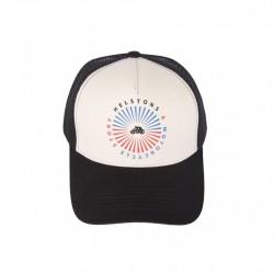 Helstons Sun Cap-Black/Beige/Black
