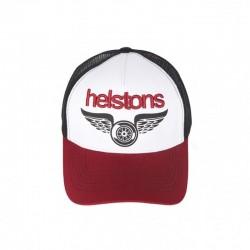 Helstons Wings Cap-Burgundy/White