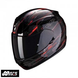 Scorpion EXO 390 Beat Black Fluo Red Full Face Motorcycle Helmet