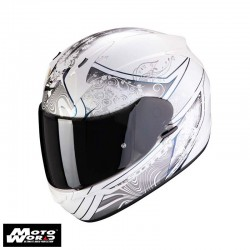 Scorpion EXO 390 Clara White Silver Full Face Motorcycle Helmet
