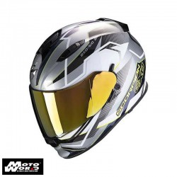Scorpion EXO 510 Air Balt Silver White Fluo Yellow Full Face Motorcycle Helmet S