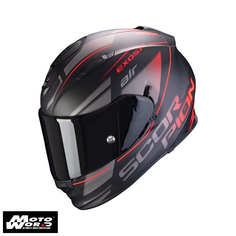 Scorpion Exo-510 Air Ferrum Matt Black Silver Red Full Face Helmet S