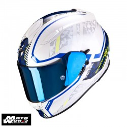 Scorpion EXO 510 Air Occulta Pearl White Blue Full Face Motorcycle Helmet S