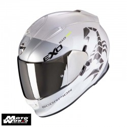 Scorpion EXO 510 Air Pique Pearl White Silver Full Face Motorcycle Helmet M