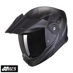 Scorpion EXO ADX 1 Tucson Matt Black Carbon Modular Motorcycle Helmet M