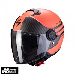 Scorpion EXO City Moda Matt Coral Black Jet Motorcycle Helmet S