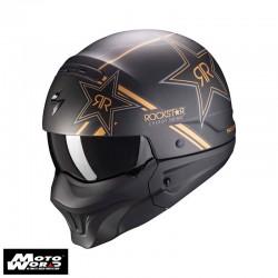 Scorpion EXO Combat Evo Rockstar Gold Modular Motorcycle Helmet