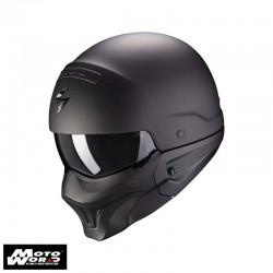 Scorpion EXO Combat Evo Solid Matt Black Modular Motorcycle Helmet