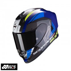 Scorpion EXO R1 Air Harley Blue Fluo Yellow Full Face Motorcycle Helmet M