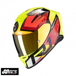 Scorpion EXO R1 Air Infini Black Red Fluo Yellow Full Face Motorcycle Helmet M