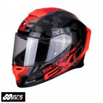 Scorpion EXO1029224 R1 Air Ogi Matt Black-Red Motorcycle Helmet