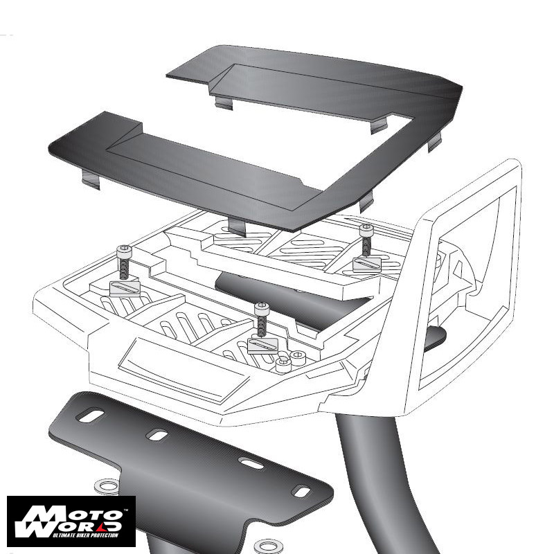Hepco & Becker 65075300101 Aluminum Rack Top Box Bracket for Ducati Scrambler 800