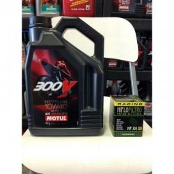 Motul 300V and Hi Flo Filtro Racing Oil Filter