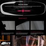Pinlock DKS096 Helmet Visor Light Smoke for R-PHA-Max