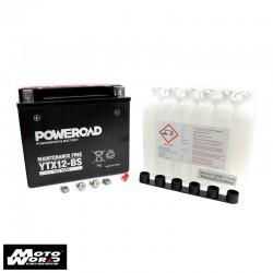 Poweroad YTX12BS Maintenance Free Battery