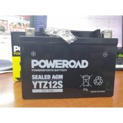 Poweroad YTZ12S Maintenance Free Sealed Battery