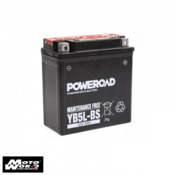 Poweroad YB5L-BS 12VAH Maintenance Free Motorcycle Battery