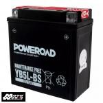 Poweroad YB5L-BS 12VAH Maintenance Free Motorcycle Battery