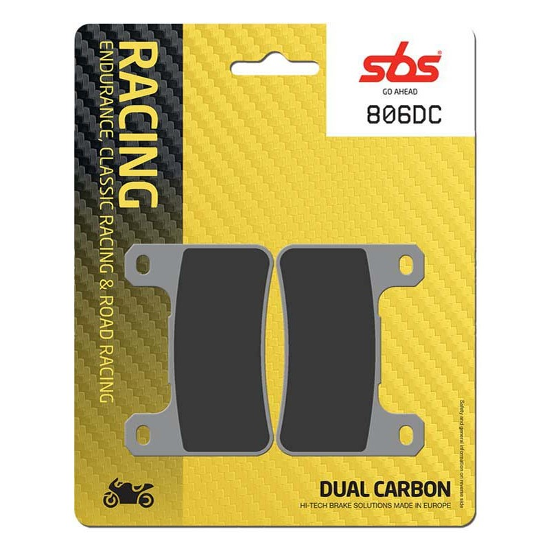 SBS 806DC Front Dual Carbon Brake Pad for Kawasaki ZX-10R 08
